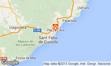 Karte Playa d'Aro Studio 93350