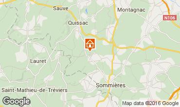 Karte Sommières Ferienunterkunft auf dem Land 12181