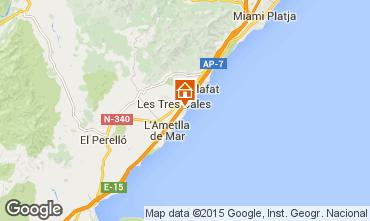 Karte La Ametlla de Mar Villa 9664
