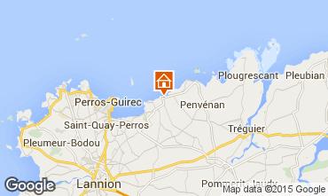 Karte Perros-Guirec Ferienunterkunft auf dem Land 83929