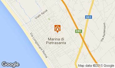 Karte Marina di Pietrasanta Appartement 93680