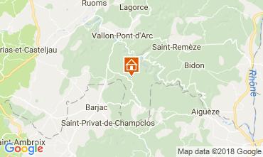 Karte Labastide de Virac Villa 116056