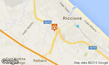 Karte Riccione Appartement 40072