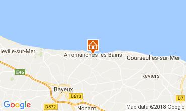Karte Arromanches Ferienunterkunft auf dem Land 113148