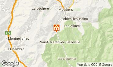 Karte Saint Martin de Belleville Chalet 98698