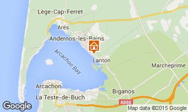 Karte Andernos les Bains Ferienunterkunft auf dem Land 80951