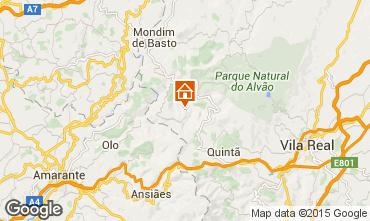 Karte Mondim de Basto Ferienunterkunft auf dem Land 84160