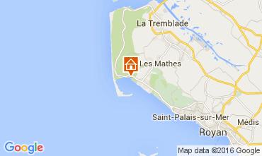 Karte La Palmyre Mobil-Home 92743