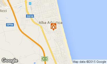 Karte Alba Adriatica Appartement 64221