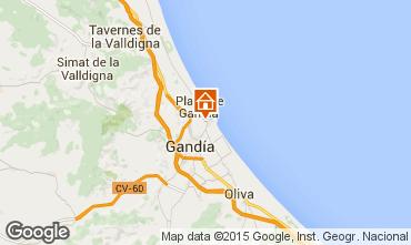 Karte Gandia Appartement 93726
