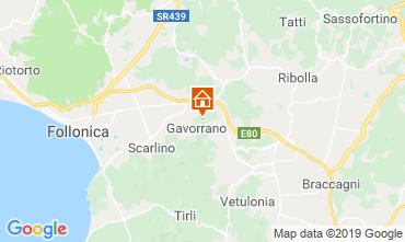 Karte Gavorrano Ferienunterkunft auf dem Land 80622
