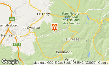Karte Gérardmer Chalet 74651