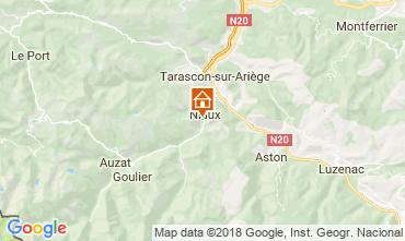 Karte Ussat les Bains Ferienunterkunft auf dem Land 95886
