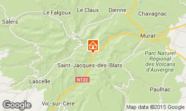 Karte Le Lioran Ferienunterkunft auf dem Land 38545