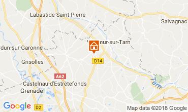 Karte Toulouse Ferienunterkunft auf dem Land 97194