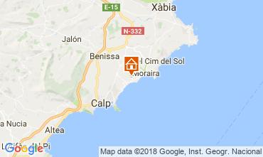 Karte Moraira Haus 114144