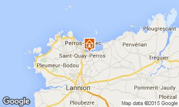 Karte Perros-Guirec Mobil-Home 7433