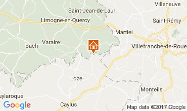 Karte Saint-Cirq-Lapopie Ferienunterkunft auf dem Land 51135