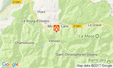 Karte Les 2 Alpes Studio 112485