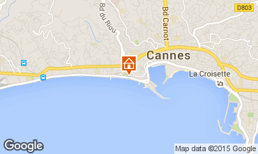 Karte Cannes Appartement 5542