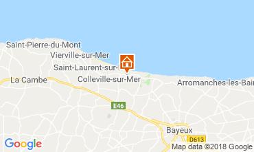 Karte Arromanches Ferienunterkunft auf dem Land 102842