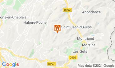 Karte Bellevaux Hirmentaz La Chèvrerie Studio 56981