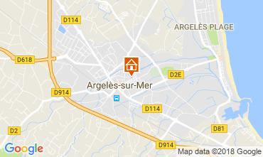 Karte Argeles sur Mer Haus 114357