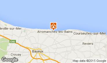 Karte Bayeux Ferienunterkunft auf dem Land 81097