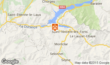 Karte Barcelonnette Mobil-Home 93371
