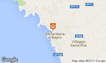 Karte Santa Maria al Bagno Appartement 61925