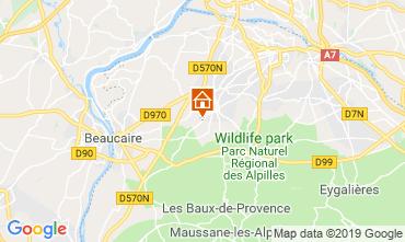 Karte Saint Rémy de Provence Ferienunterkunft auf dem Land 118685
