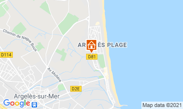 Karte Argeles sur Mer Studio 90896
