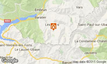 Karte Les Orres Studio 2089