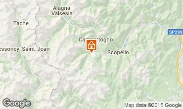 Karte Alagna Valsesia Appartement 93220