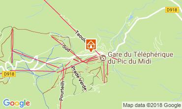 Karte La Mongie Appartement 115586