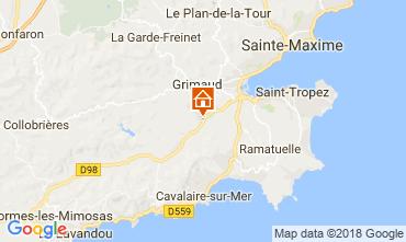 Karte Saint Tropez Villa 64669