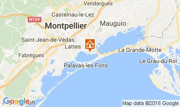 Karte Montpellier Mobil-Home 107400