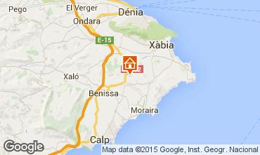 Karte Moraira Ferienunterkunft auf dem Land 75122