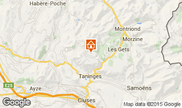 Karte Praz de Lys Sommand Chalet 14859