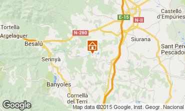 Karte Figueres Ferienunterkunft auf dem Land 55342