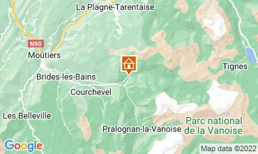 Karte Champagny en Vanoise Studio 30023