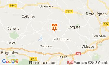 Karte Le Thoronet Ferienunterkunft auf dem Land 113716