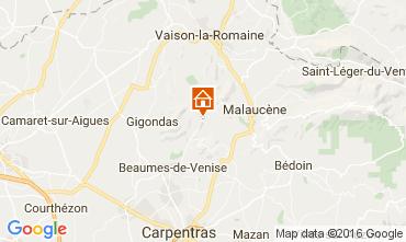 Karte Vaison la Romaine Ferienunterkunft auf dem Land 95444