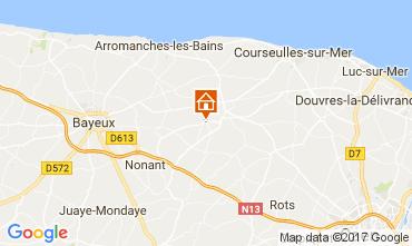 Karte Bayeux Ferienunterkunft auf dem Land 111364