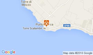Karte Punta Secca Appartement 105750