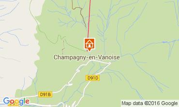 Karte Champagny en Vanoise Studio 106040