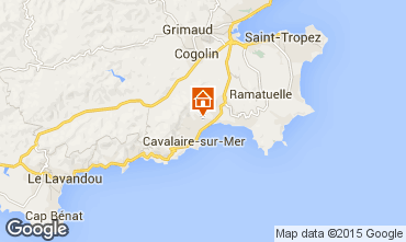 Karte Cavalaire-sur-Mer Appartement 83253