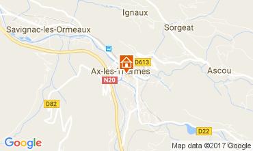 Karte Ax Les Thermes Appartement 110888