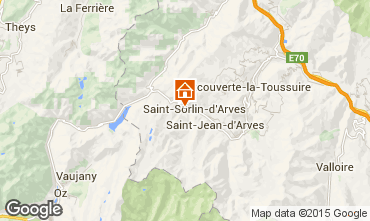 Karte Saint Sorlin d'Arves Studio 81448