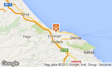 Karte Dénia Chalet 76341